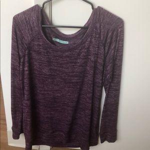 Purple heathered sweater